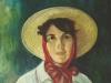 Chica con sombrero de paja